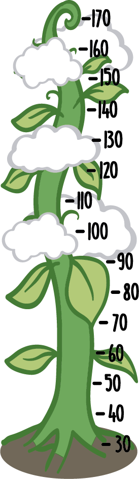 TenStickers. Beanstalk Height Chart Wall Sticker. Kids beanstalk height chart wall sticker to measure how fast your children are growing, perfect for decorating a child's room!