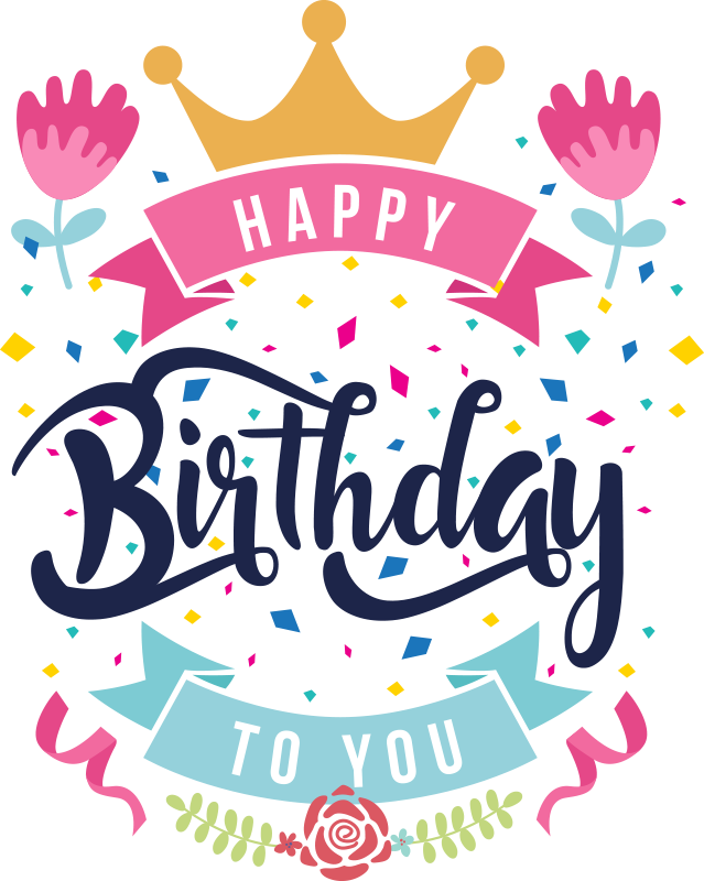"TenStickers. Happy Birthday To You Wall Sticker. Exciting and colourful Happy Birthday wall sticker for boys and girls! This exciting design shows the words ""Happy Birthday"" to you!"