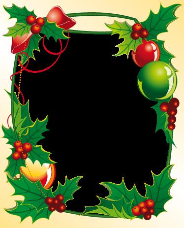 TENSTICKERS. クリスマスフレームデカール. デカール-クリスマス装飾用の花のフレームデザイン。季節の気分を味わえるクリスマスデコレーション。さまざまなサイズで利用できます。