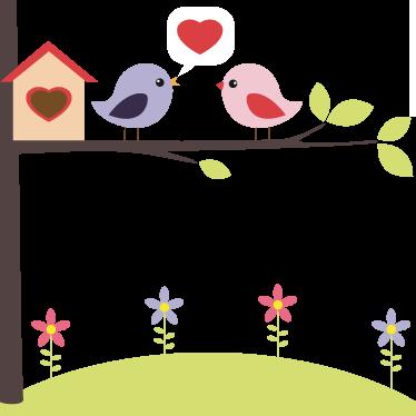 TenVinilo. Vinilo decorativo pájaros enamorados. Bonito y agradable adhesivo para dar un toque romántico y encantador de dos pajarillos declarando su amor sobre la rama de un árbol.