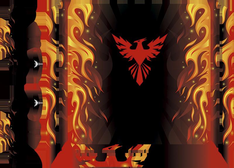 TenStickers. Autocolante para PS4 ave Fénix. Decore a sua consola com este skin para PS4 com uma imagem da ave ardente Fénix, uma sugestão de decoração do seu objeto pessoal.