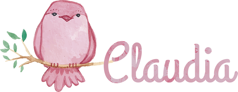 TenStickers. Pink bird wall decal personalizable. This beautiful wall decal with a pink bird is the perfect decoration to personalize and decorate your room. In this decoration you will find a pink bird on a branch with a name next to it.