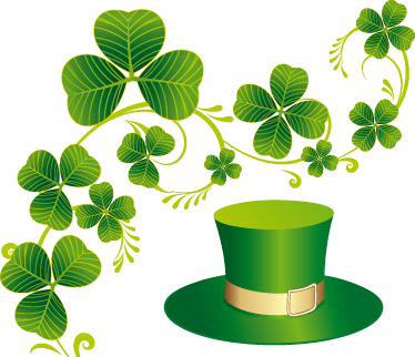 TenStickers. Saint Patrick´s Celebration Sticker. Business Stickers - Saint Patrick´s day with the green hat and clovers. Ideal for retail stores and businesses.