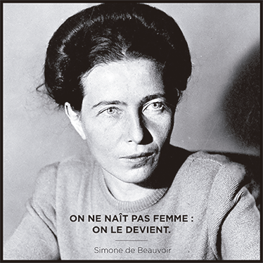 TenStickers. Simone de Beauvoir quote decal. With this famous quote sticker with a phrase of Simone de Beauvoir you can decorate your home creatively. Zero residue upon removal.