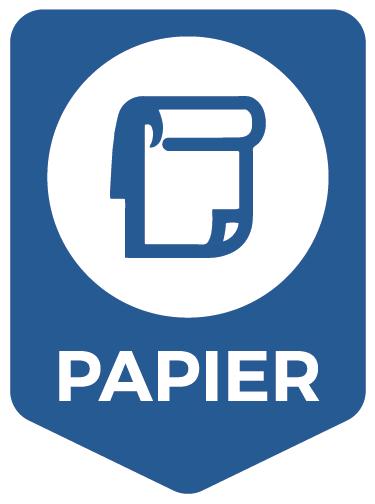 TenStickers. Aufkleber Mülltrennung Papier. Hochwertiger Aufkleber Mülltrennung Papier für Ihren Abfalleimer. Verleihen Sie Ihrem Mülleimer mit einem Aufkleber ein originelles Aussehen.