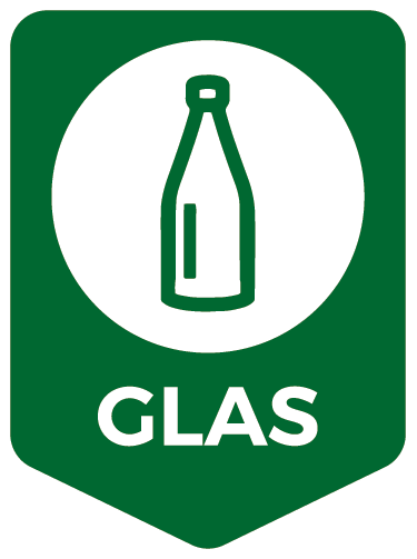 TenStickers. Recycle Glass DE Icon Sticker. Show that you take recycling seriously with this icon vinyl sticker! The sticker show which type of trash can be recycled here: glass!