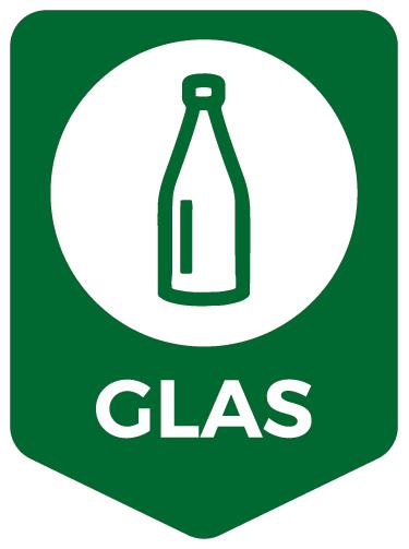 TenStickers. Aufkleber Mülltrennung Glas. Hochwertiger Aufkleber Mülltrennung Glasfür Ihren Abfalleimer. Verleihen Sie IhremAbfalleimerein originelles Aussehen.