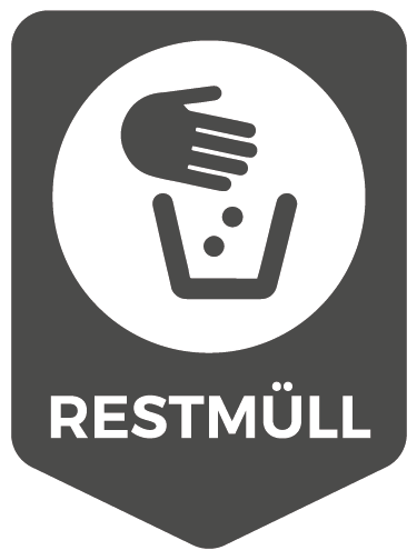 TenStickers. Recycle Residual Waste Icon Sign Sticker. Start recycling and save the planet with this icon vinyl sticker! The sticker shows which type of trash can be recycled here: residual waste!