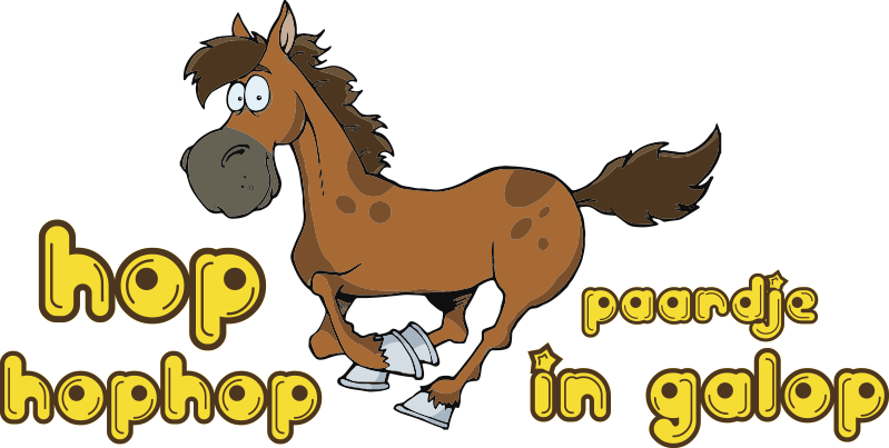 TenStickers. galloping horse nursery rhyme decal. Decorative nursery rhyme wall sticker designed with a galloping horse and a '' hop hop'' text rhythm. We have it in any required size.
