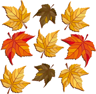 TenStickers. Autumn Leaves Wall Decal. Wall Stickers - Autumn themed feature to decorate your home or business. Gold, orange and green autumn shades to warm a room.