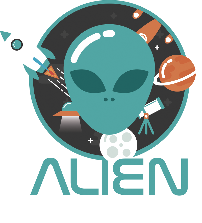 TenStickers. Car sticker alien on board. Decorate you car with this original version of the baby on board sticker. On this design you will find the text alien on board.