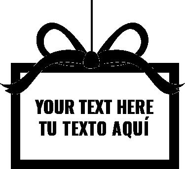 sticker ruban cadeau de no l. Black Bedroom Furniture Sets. Home Design Ideas