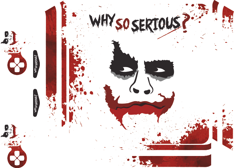 TenStickers. Joker PS4 Skin Sticker. Decorate your Playstation with this cinema themed console skin sticker! Choose your size.