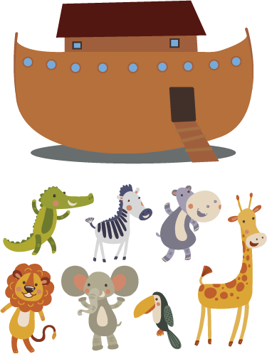 TenStickers. Noah´s Ark Wall Sticker. A fantastic wall art sticker, perfect for decorating the wall of your child´s bedroom! Anti-bubble vinyl.