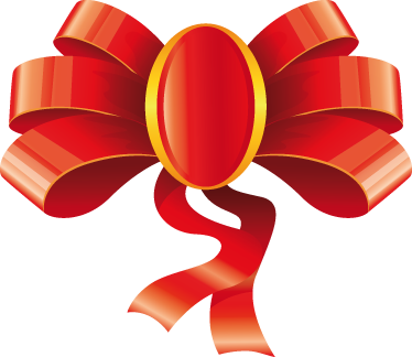 TenStickers. Gift Ribbon Bow Sticker. A creative sticker of a gift ribbon bow to decorate your shop. Brilliant decal to decorate your shop front window during Christmas.