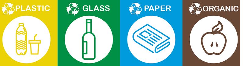 TenStickers. Recikliranje nalepk. Fantastično uporabna izbira nalepk za recikliranje, s pomočjo katerih bodo posodice jasne! Prijavite se za 10% popusta.