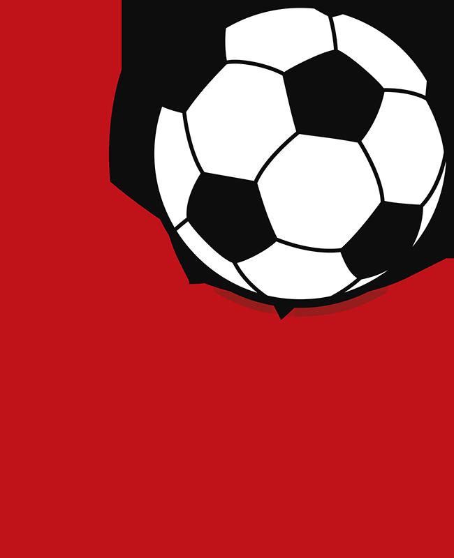 """TenStickers. Amore adesivo da muro di calcio. Eccellente adesivo da muro da calcio, costituito dalla parola """"amore"""" con la lettera """"o"""" sostituita da un pallone da calcio!"""