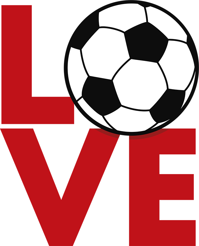 "TenStickers. 爱足球墙贴. 优秀的足球墙贴,用"" o""代替"" o"",用球代替完美的运动墙贴,用于装饰任何青少年房间的墙壁,为他们的墙壁增添色彩并炫耀他们对足球的热爱"