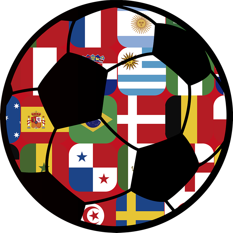 TenStickers. World Football Flags Home Wall Sticker. Add a football to your home with this fantastic sports sticker, depicting a football, complete with all its flags! +10,000 satisfied customers.