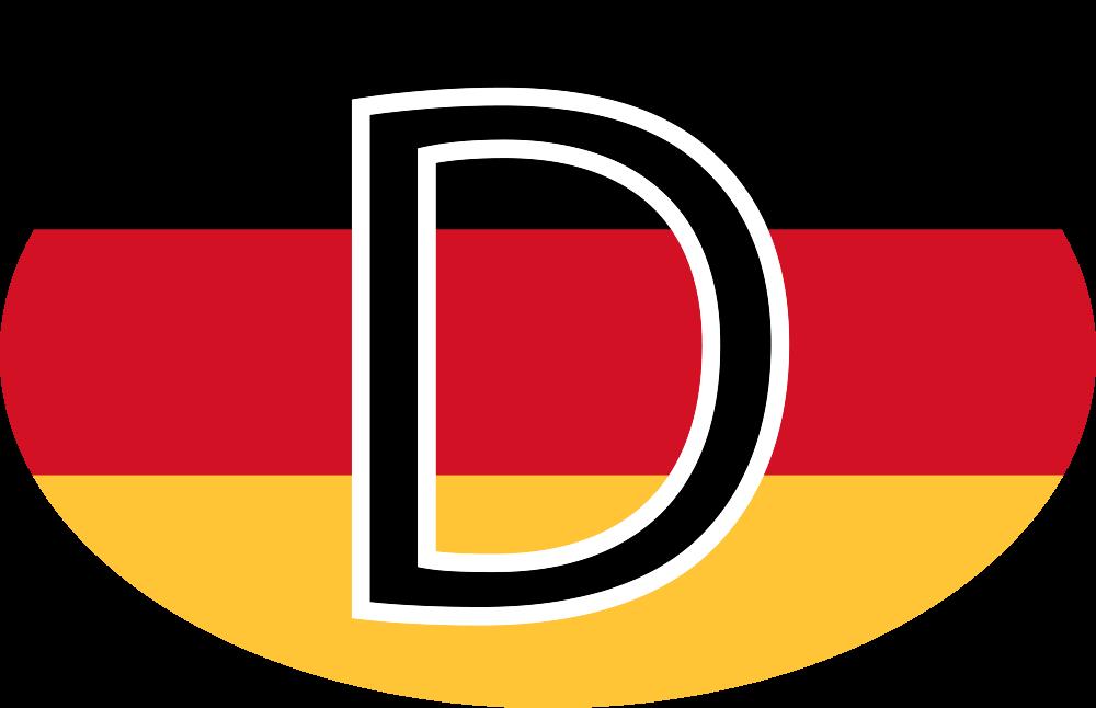 TenStickers. Nemška nalepka za avtomobile. Nalepka za okrasne nemške zastave za vozila in vse ravne površine. Imamo ga v različnih velikostih. Enostaven za nanašanje in lepilo
