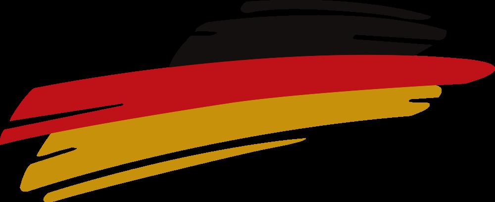 TenStickers. Nalepka nemške avtomobila. Nalepka za okrasne nemške zastave za okras na kateri koli ravni površini, naj bo to avtomobil ali osebna dodatna oprema. Na voljo je v različnih velikostih.