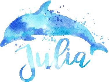 TenStickers. Stickers personnalisé dauphin eau. Un adorable sticker personnalisable représentant un dauphin. Un sticker animal réalisé dans un magnifique style aquarelle.
