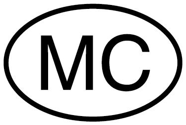 """TenStickers. Sticker voiture Monaco. Sticker pour véhicule vous permettant de personnaliser votre voiture avec les lettres """"MC"""", abbrévation de Monaco. Un sticker simple, qui saura pourtant faire la différence, que ce soit votre voiture ou même votre moto."""