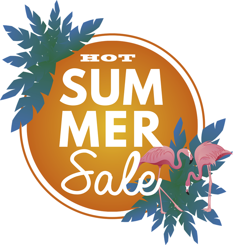 TenStickers. Hot Summer Sale wall sticker. Decorate you windows with this shop front window sticker and attract more customers than ever before. Removal without stains!