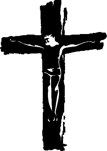 TenVinilo. Vinilo decorativo cruz cristiana. Vinilos religión para decorar tu casa si eres un ferviente creyente con una versión moderna del Cristo en la Cruz.