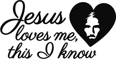 TenStickers. Jesus Loves Me Wall Sticker. A brilliant wall text stickers for followers of Christianity! Personalised stickers.