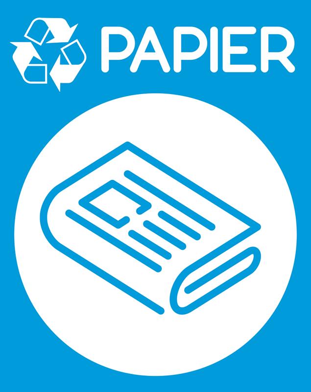 TenStickers. Stickers Dessin Recyclage Papier. Et si on commençait à sauver la planète ? Recyclez votre papier grâce à cet autocollant pictogramme ! Application Facile.