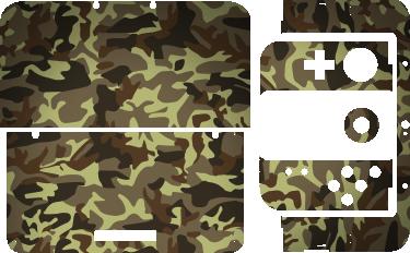 TenStickers. Sticker 3DS XL camouflage. Stickers pour 3DS XL, New 3DS XL et 2DS à la texture camouflage. Un sticker original qui vous permettra de transformer votre console de jeu. Une façon rapide et pas chère de personnaliser votre console Nintendo pour qu'elle corresponde vraiment à vos goûts.