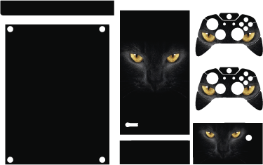TenStickers. Cat Eyes Xbox Skin. Our Xbox skins all have creative designs. This style includes a cat´s eyes as if it lurking in the darkness and hunting its prey.  Use this Xbox sticker to have an animal instinct for when you are gaming and match your winning mentality.
