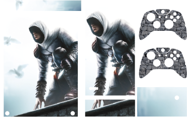 TenStickers. Assassins Creed Xbox Skin. The Xbox Assassin's Creed skin for gamers who take on the Assassin´s journey. This stylish Xbox One skin is for gamers who are not afraid of the challenge that the game brings.