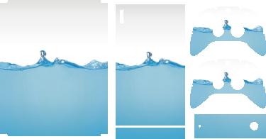 TenStickers. XBox Aufkleber Wasser. Dieser XBox Aufkleber ist in einem schlichten weiß-blauen Design gehalten und wirkt hochwertig.  Das Design ist ideal für eine weiße Xbox geeignet.
