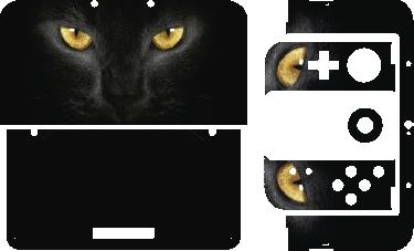 TenStickers. Adesivo decorativo para Nintendo cara de gato. Se és fã de gatos temos o perfeito adesivo decorativo com a face de um gato misterioso, ideal para personalizar a tua Nintendo.