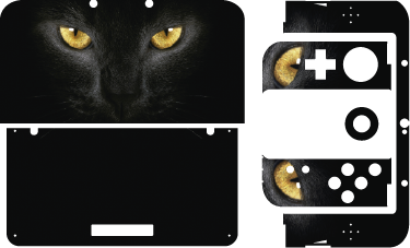 TenStickers. 猫眼任天堂贴纸. 猫眼任天堂的皮肤会炫耀你的大胆态度。每个人都知道猫有九条命,他们总会回来。将它作为任天堂开关皮肤或2ds或3ds皮肤。