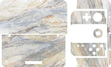 TenStickers. 大理石效果任天堂贴纸. 拥有这个神奇的设计作为你的任天堂皮肤,并从其他人中脱颖而出。我们的设计师将这款酷炫的任天堂开关包装在一起,为您的设备提供风格。
