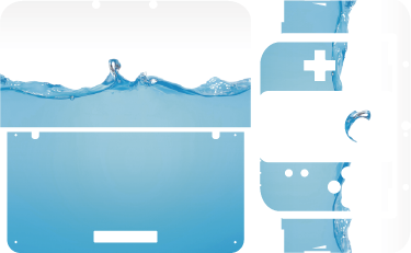 TenStickers. Water Effect Nintendo Skin. One of our most stylish Nintendo Skins, the blue water effect will put your Nintendo above the rest. Nintendo Switch skins along with 2DS and 3DS skins are available in this design.