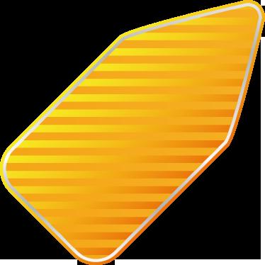 TenStickers. Naklejka etykieta w paski promocja. Naklejka na ścianę idealna do umieszczenia na szklanych powierzchniach. Obrazek przedstawia żółtą etykietę w paski, na której możesz umieścić dowolny napis.