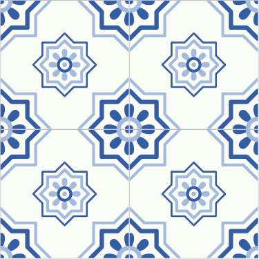 TenStickers. Blue tiles sticker. Decorate the tiles in the bathroom or kitchen with this ornament tile sticker. Available in different sizes. Easy to apply.