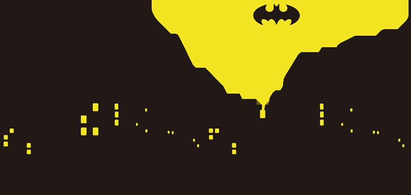 TenVinilo. Pegatinas para portátil Gotham. Vinilos decorativos para ordenador para fans del superhéroe hombre murciélago Batman con el skyline de Gotham y el famoso foco con el que se reclama su ayuda Una pegatina ideal para personalizar la tapa de tu PC Vinilos frikis para apasionados de los cómics y en especial de este personaje