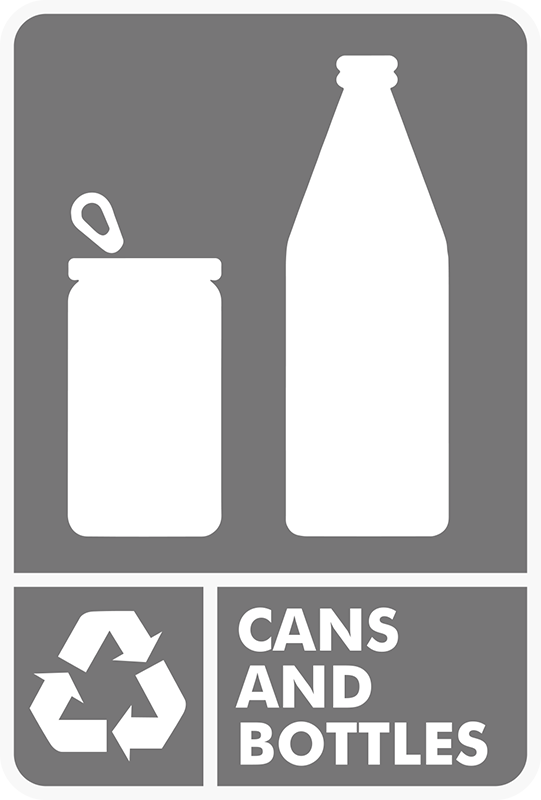TenStickers. Cans & Bottles Recycling Bin Sticker. Everyone needs recycling bin stickers for recycling cans and bottles. Order from our range of wheelie bins stickers and help the environment today.