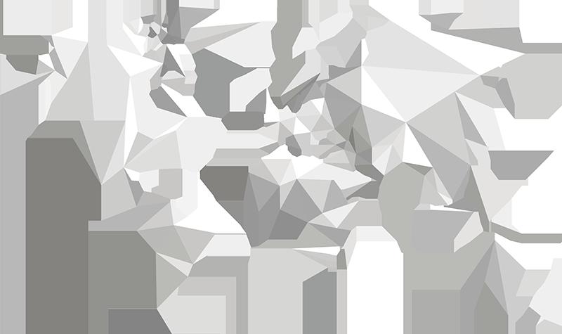 TenStickers. Sticker mappamondo origami. Decora le pareti di casa tua con questo unico e originale stickers Mondo creato con eleganti origami di carta, con l'immagine di un mappamondo.