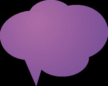 TENSTICKERS. カスタマイズ可能な紫色の音声バブルステッカー. カスタマイズ可能-プロモーション-ビジネスステッカー-あらゆる小売業に理想的なデザイン。紫色の雲音声バブルデザインのプロモーションに最適。