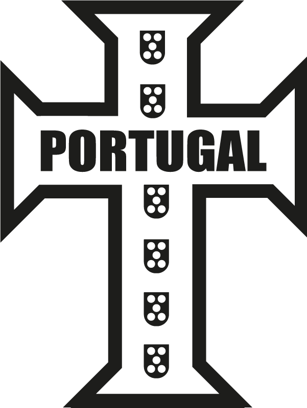TenStickers. Portuguese cross  Car Decal. Portuguese cross car sticker to decorate any vehicle and flat surface. Available in any size you want. Easy to apply and adhesive.
