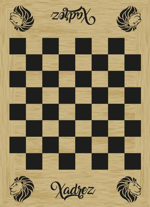 TenStickers. Autocolantes para quarto infantil tabuleiro de xadrez. Autocolante decorativo original para qualquer divisão da sua casa. Tenha sempre este tabuleiro pronto para jogar e se divertir com a sua família.