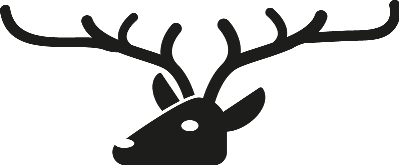 TenStickers. Deer Head Coat Hanger Sticker. Furnish your home with this fantastic coat hanger sticker! Choose your size.