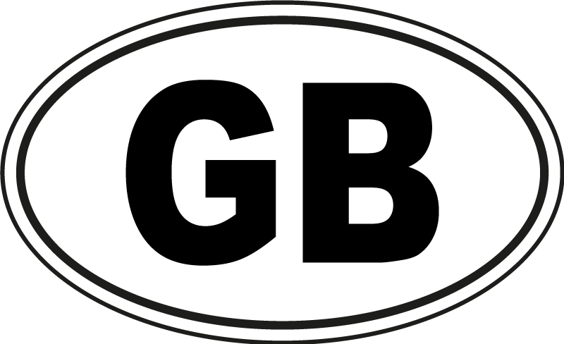 TenStickers. GB Car Sticker. A fantastic car sticker, extremely useful when driving abroad! Personalised stickers. +10,000 satisfied customers. High quality.