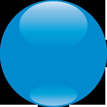 TenVinilo. Adhesivo círculo personalizable para tienda. Colorida pelota en azul para decorar tu negocio y destacar con un adhesivo cualquier descuento interesante.